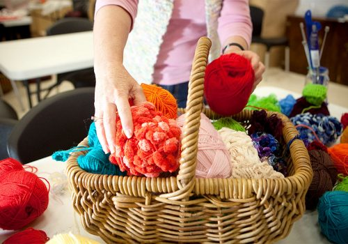 Art and Fibre crafters at Bracken Ridge Library